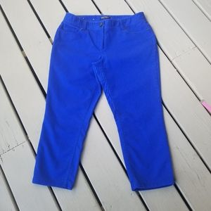 10 Royal Blue cropped pants by Dalia Collection